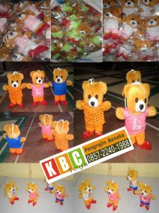 Boneka Souvenir Teddy Bear Mini Orang Tua Group dan Indomaret